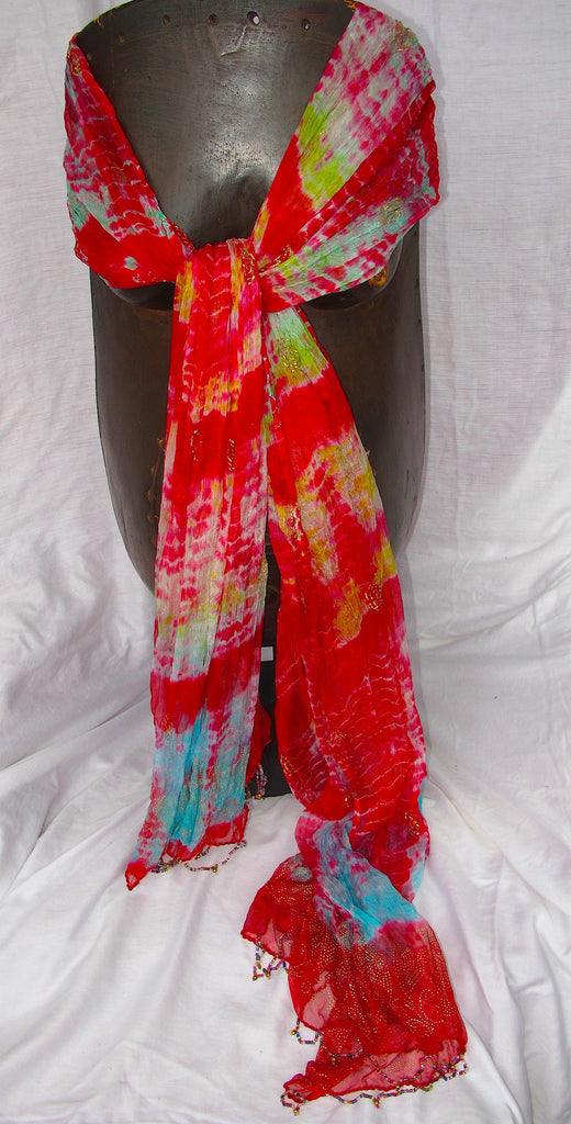 Multi Color Shawl (Red)
