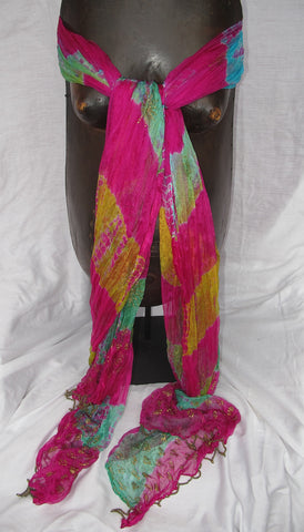 Multi Color Sheer Shawl (Pink)