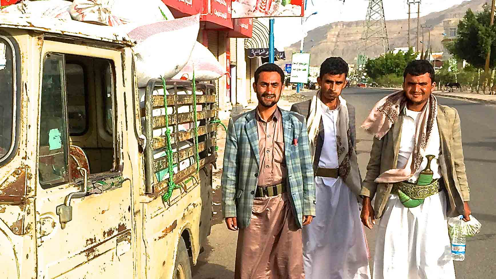 Yemen truck and coffee farmers