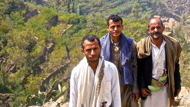 Optimistic Coffee Farmers in Yemen