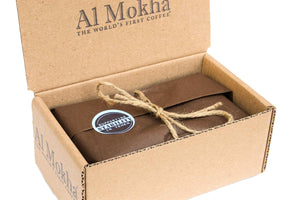 wrapped coffee in gift box