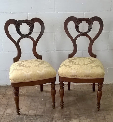 Black walnut Italian wedding chairs