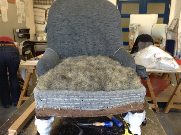Victorian Ironback upholstery: Seat second stuffing