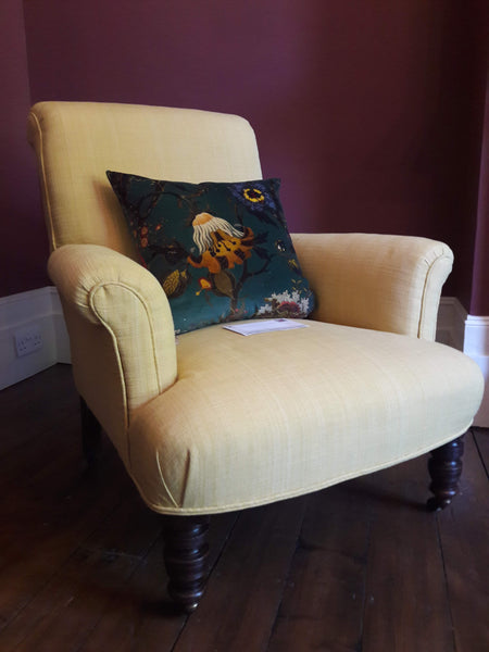 Val's yellow armchair