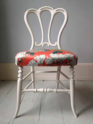 Small Floral Chair