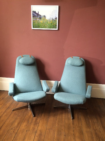Pair of Conturett Roto chairs by Alf Svensson