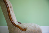 Deep Buttoned Victorian Ladies Chair