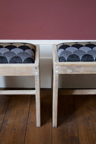 Pair of  Oak Stools (Child size)