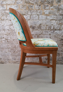 Velvet Oak Chair