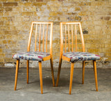1970's Beech Dining Chairs: 2