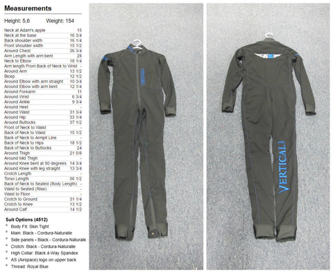 Speed Suit  5'6"