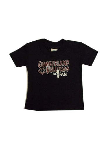 Black #1 Fan Toddler Tee