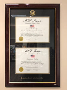 Cherry Gloss Double Diploma Frame