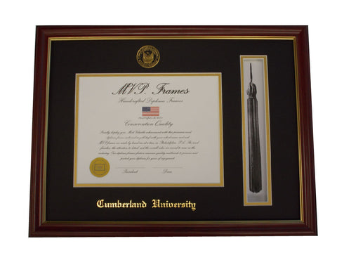 Cherry Diploma Frame with Tassel Holder