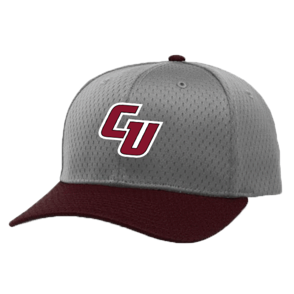 Grey and Maroon Mesh Cap