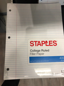 College Ruled Paper