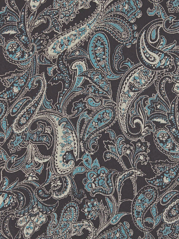 head wraps for cancer patients bohemian scarf in Turquoise Brown Paisley 350
