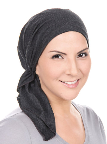 BELLA-681#The Bella Scarf Charcoal Gray