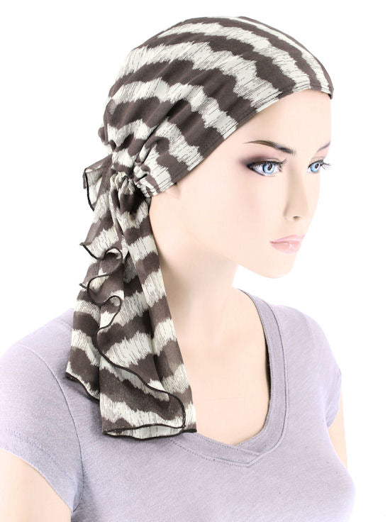 BOHO-349#Bohemian Scarf in Safari Mirage