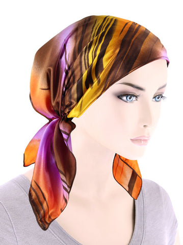 CE-BDNASCARF-907#Bandana Scarf in Tiger Stripe Orange