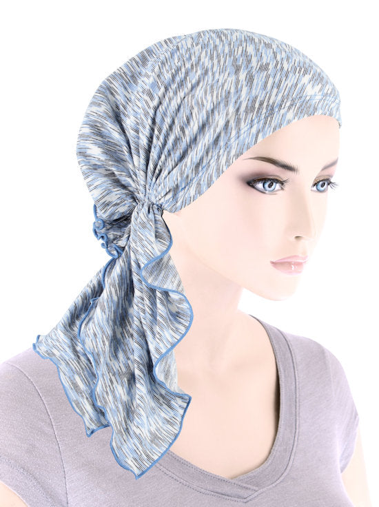 BELLA-778#The Bella Scarf Heather Blue Black