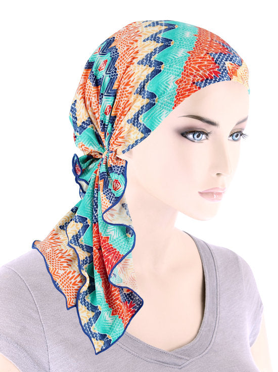 BELLA-780#The Bella Scarf Tropical Blue Sunset