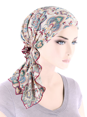 BELLA-781#The Bella Scarf Multi Colored Paisley