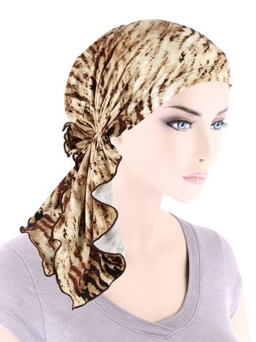 BELLA-784#The Bella Scarf Brown Tiger
