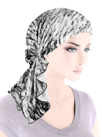 BELLA-785#The Bella Scarf Gray Tiger