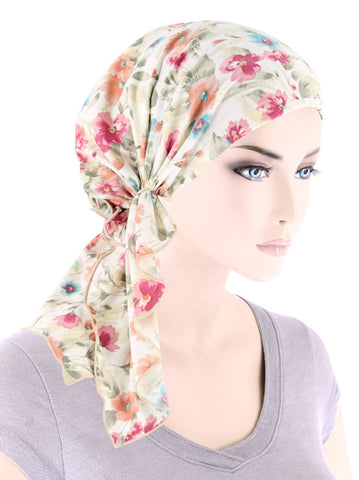 BELLA-791#The Bella Scarf Dainty Spring Floral