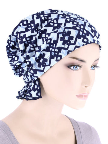 ABBEY-689#The Abbey Cap in Celtic Blue