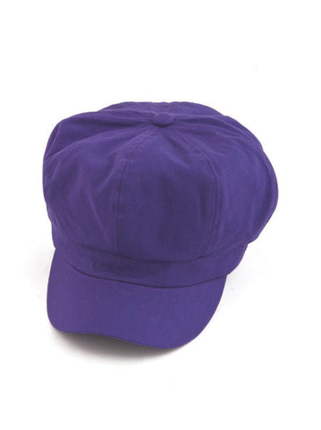 NB-PURPLE#Cotton Newsboy Chemo Hat in Purple