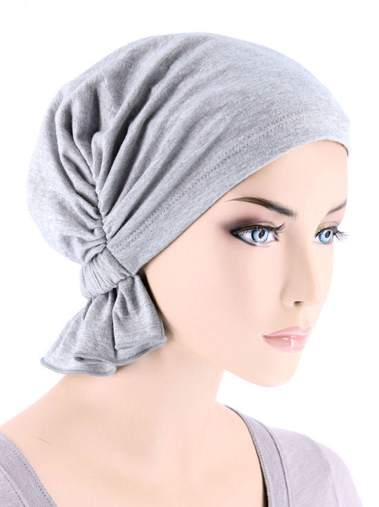 ABBEY-637#The Abbey Cap in Heather Gray Cotton Knit