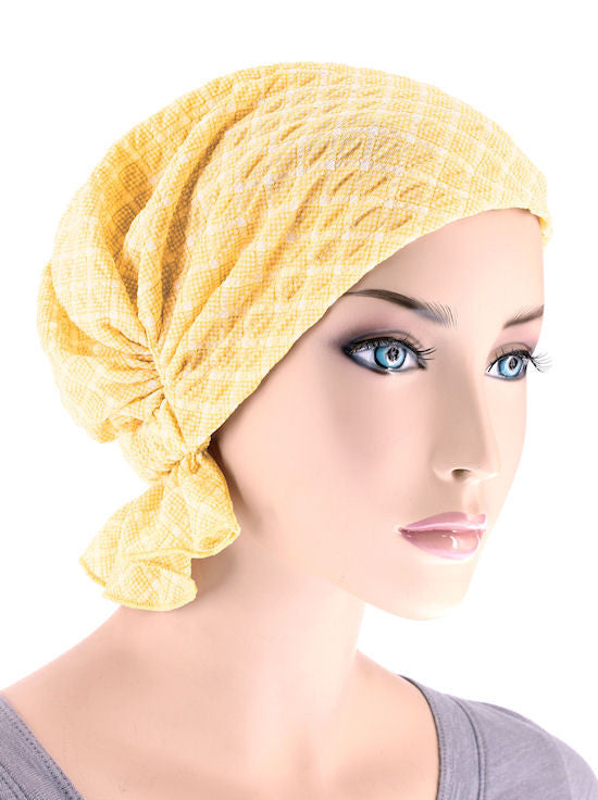 ABBEY-521#The Abbey Cap in Spring Yellow