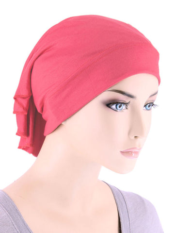 CE-BDNAWRAP-CORAL#Bandana Wrap in Coral Pink