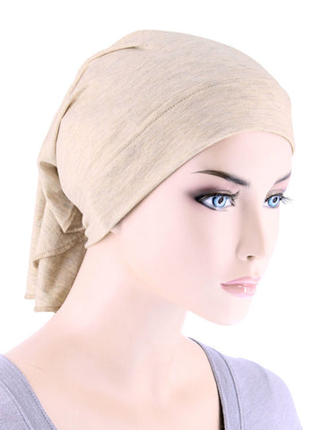 CE-BDNAWRAP-HEATHERBEIGE#Bandana Wrap in Heather Beige
