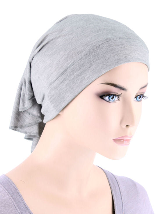 CE-BDNAWRAP-HEATHERGRAY#Bandana Wrap in Heather Gray