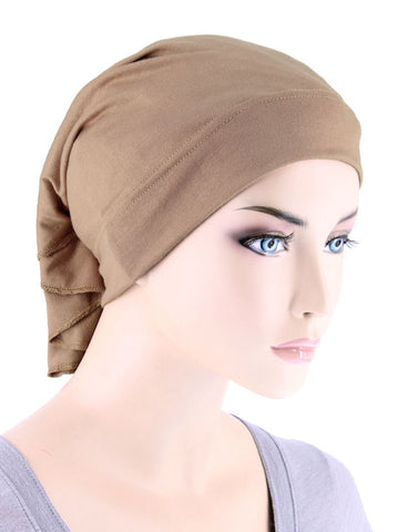 CE-BDNAWRAP-MOCHA#Bandana Wrap in Mocha Brown
