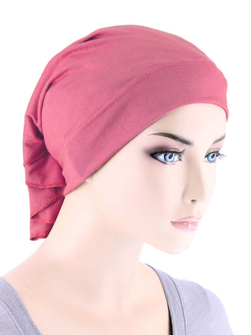 CE-BDNAWRAP-ROSE#Bandana Wrap in Rose Pink