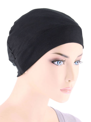 CE-CHEMOCAP-BLACK#Chemo Cap in Black