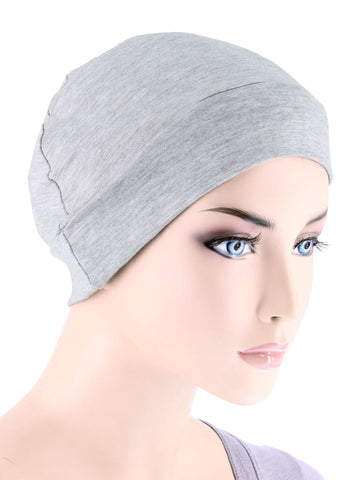 CE-CHEMOCAP-HEATHERGRAY#Chemo Cap in Heather Gray