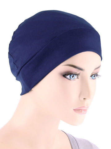 CE-CHEMOCAP-NAVY#Chemo Cap in Navy Blue