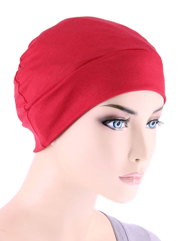CE-CHEMOCAP-RED#Chemo Cap in Red