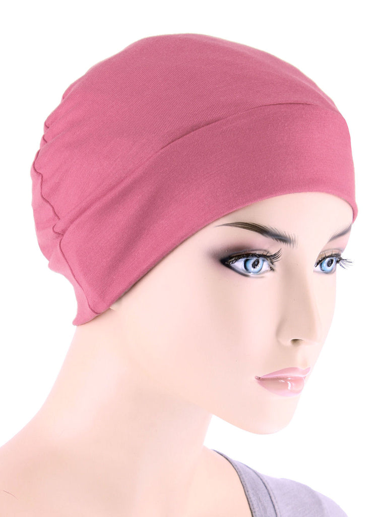 CE-CHEMOCAP-ROSE#Chemo Cap in Rose Pink