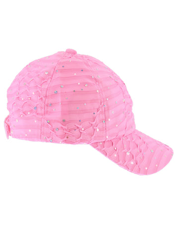 GBC-LTPINK#Glitter Sequin Baseball Cap Light Pink