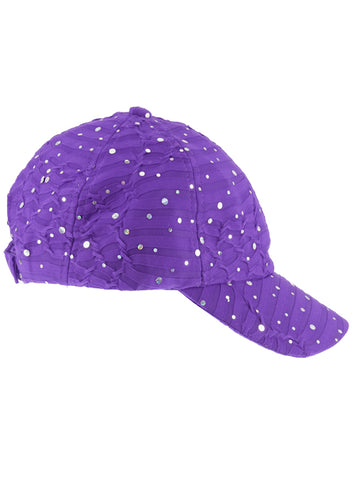 GBC-PURPLE#Glitter Sequin Baseball Cap Purple