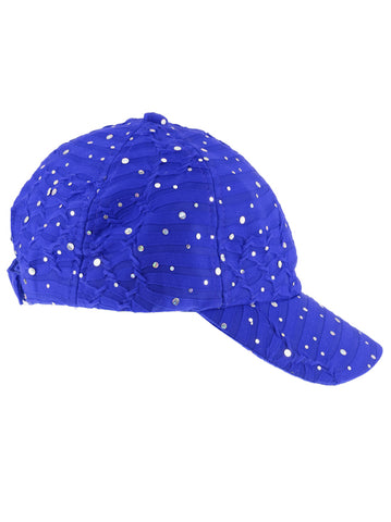 GBC-ROYAL#Glitter Sequin Baseball Cap Royal Blue