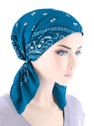 CE-BDNASCARF-TURQ#Bandana Scarf in Turquoise
