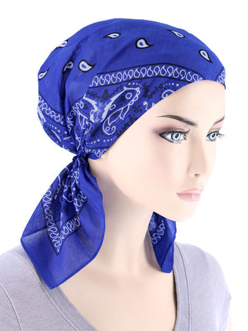 CE-BDNASCARF-ROYAL#Bandana Scarf in Royal Blue