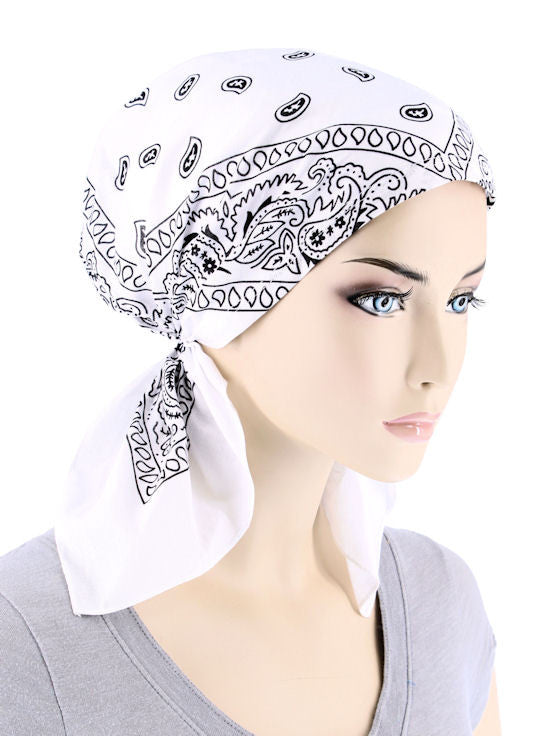 CE-BDNASCARF-WHITE#Bandana Scarf in White